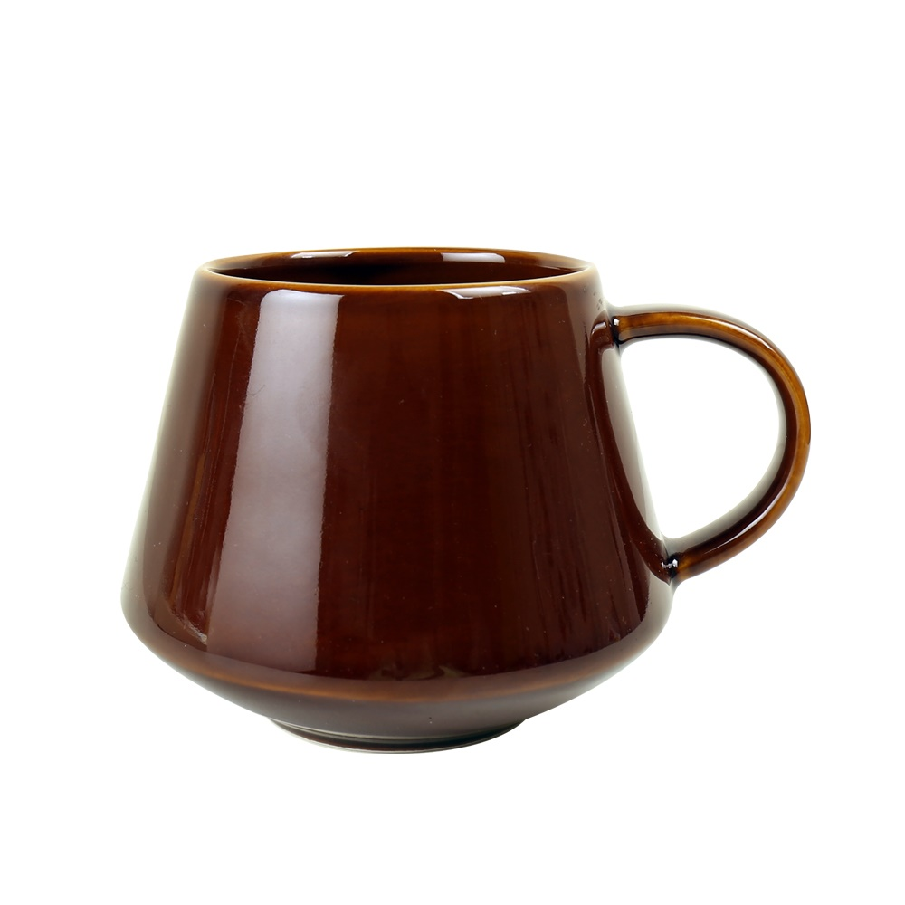 日本FUSHIMA富島 Tlar陶瓷杯400ML(咖啡色)