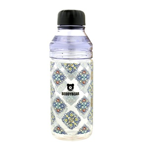 BEDDY BEAR|炫彩花漾玻璃隨身瓶480ML附提袋(巴洛克)