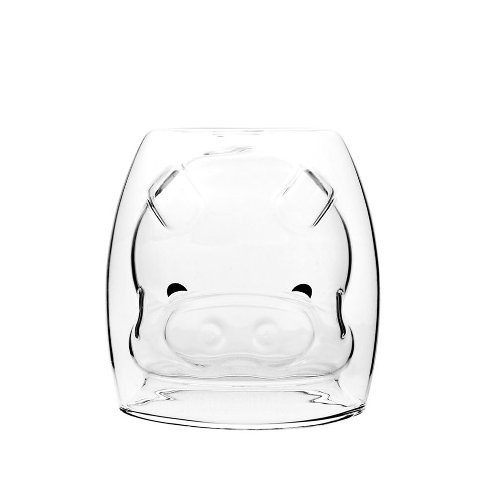 FUSHIMA 富島|2018年度限定-雙層耐熱玻璃杯Happy豬250ML