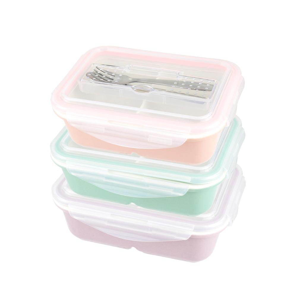 美國 Winox|樂瓷系列陶瓷保鮮盒長形附餐具3格815ML(3色可選)