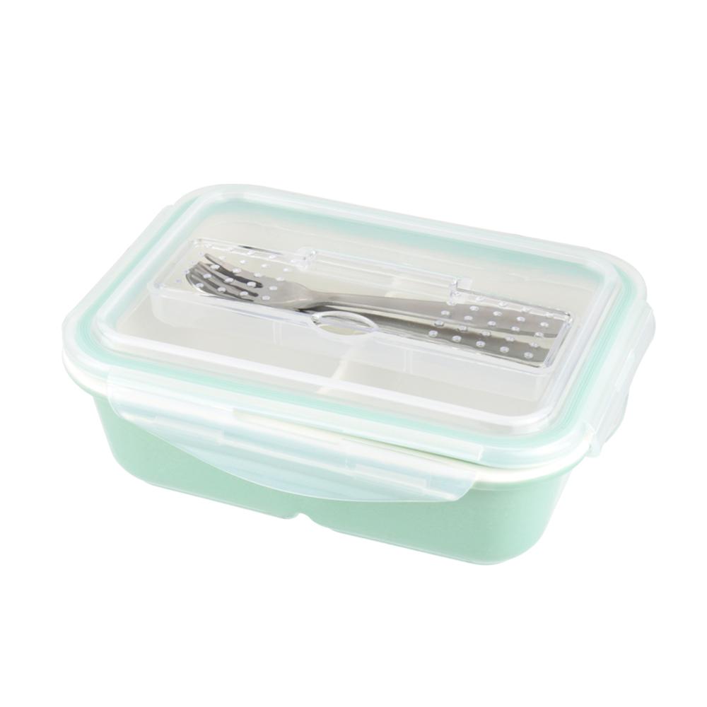 美國 Winox|樂瓷系列陶瓷保鮮盒長形附餐具4格766ML(3色可選)