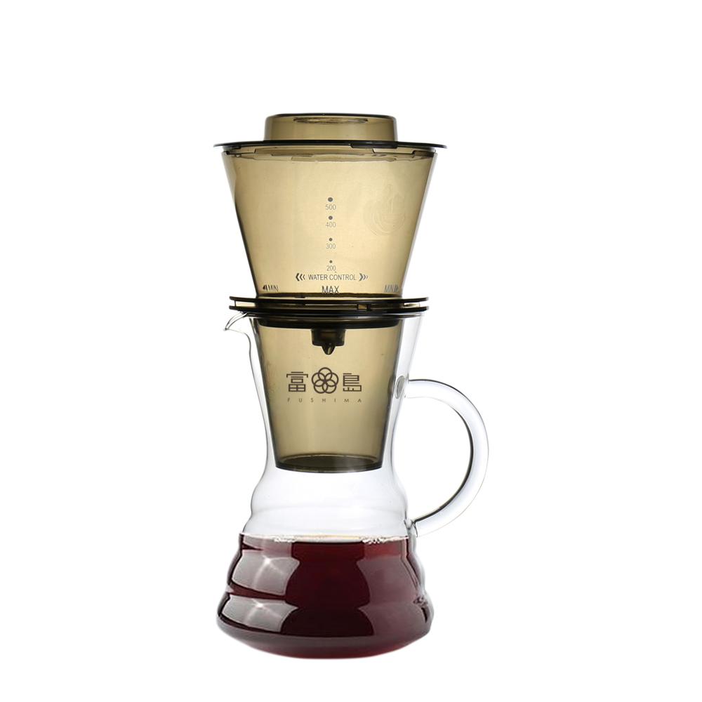 FUSHIMA 富島|台灣製冰魔滴式咖啡壺750ML(附丸型濾紙20入)