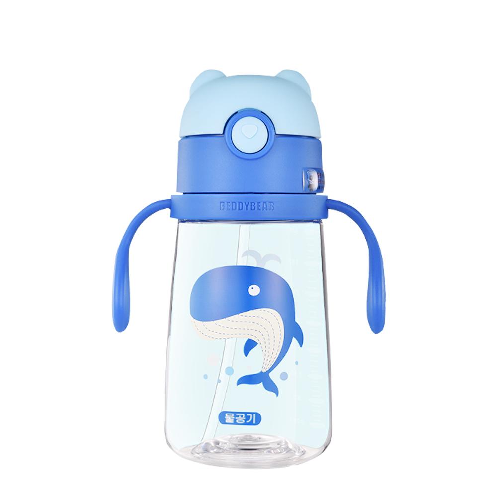 BEDDY BEAR 學飲系列可背式Tritan兒童水壺380ML(鯨魚)