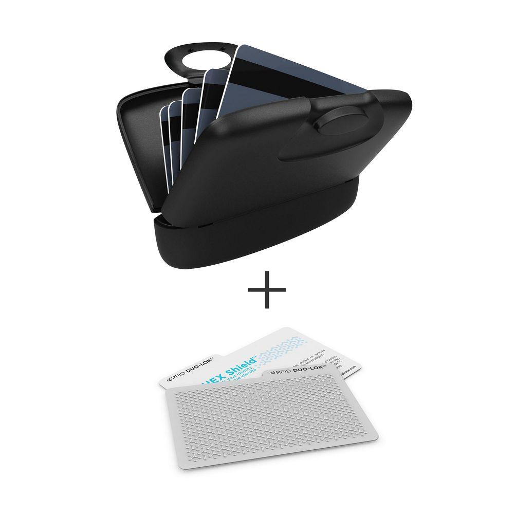 加拿大 Capsul |Duo-Lok RFID防盜錄卡(2張)+萬用夾(1入) - 黑