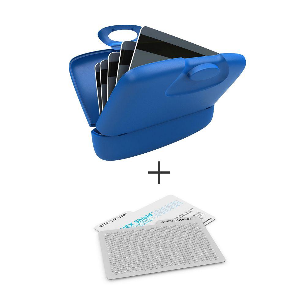 加拿大 Capsul |Duo-Lok RFID防盜錄卡(2張)+萬用夾(1入) - 藍