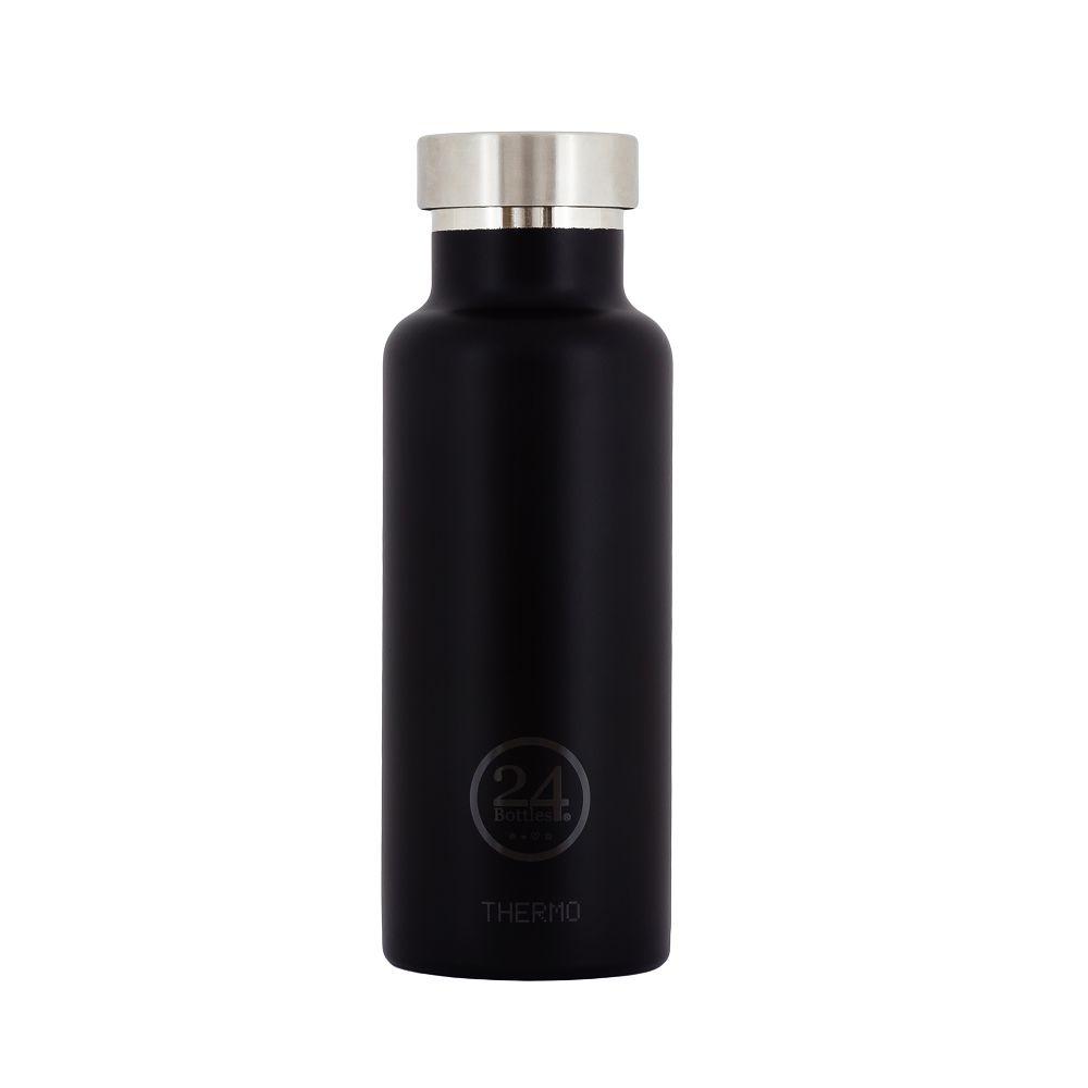 義大利 24Bottles   雙層保溫瓶 500ml - 紳士黑