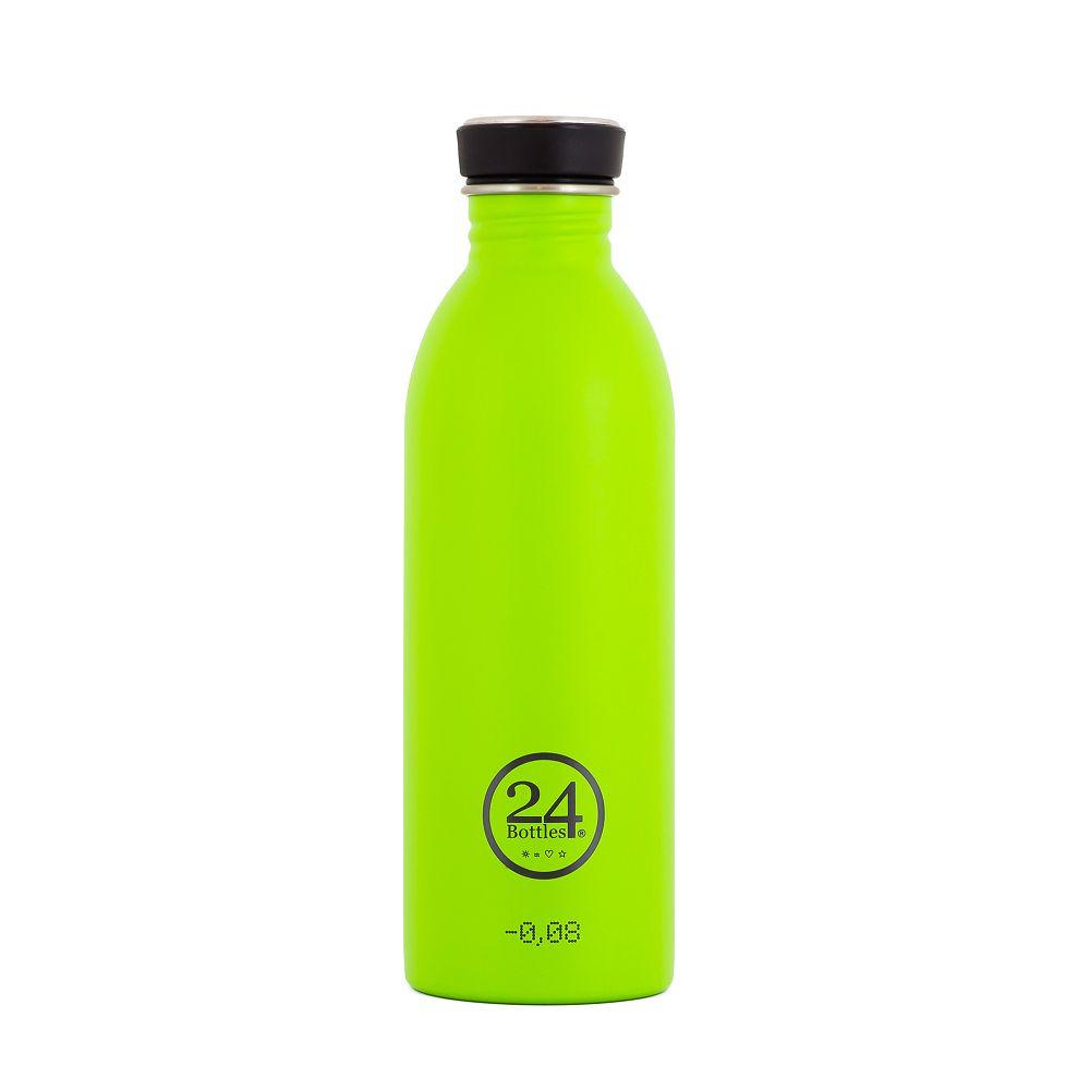 義大利 24Bottles | 城市水瓶 500ml - 檸檬綠