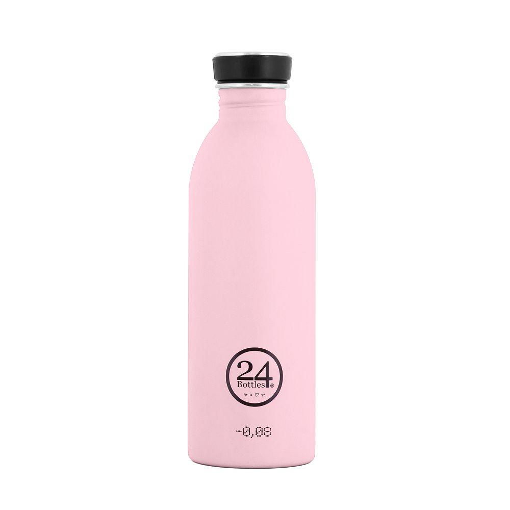 義大利 24Bottles | 城市水瓶 500ml - 糖果粉