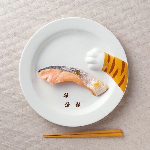 日本 sunart │餐盤 - 貓偷食