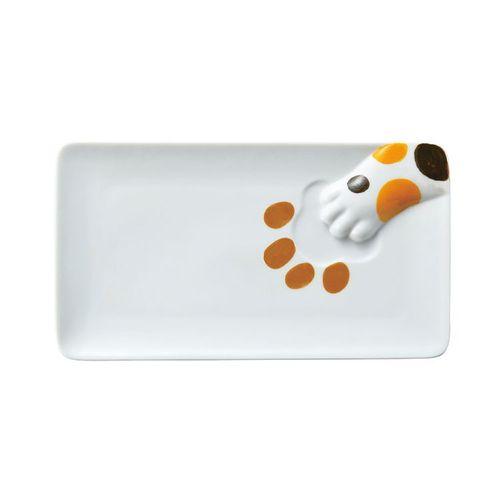 日本 sunart │長餐盤 - 三花貓偷食