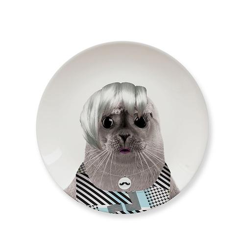 Mustard | 動物餐盤 7 吋 - 龐克海豹