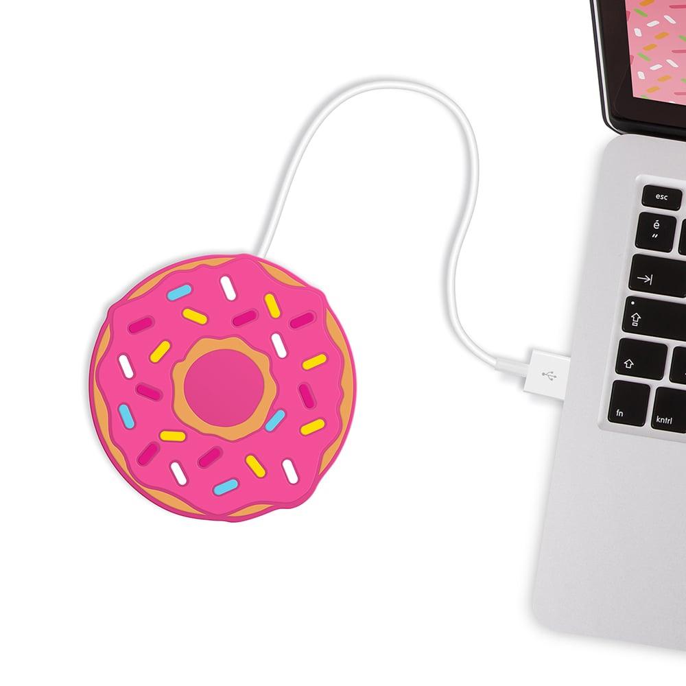 英國 Mustard   USB 保溫杯墊 -  甜甜圈