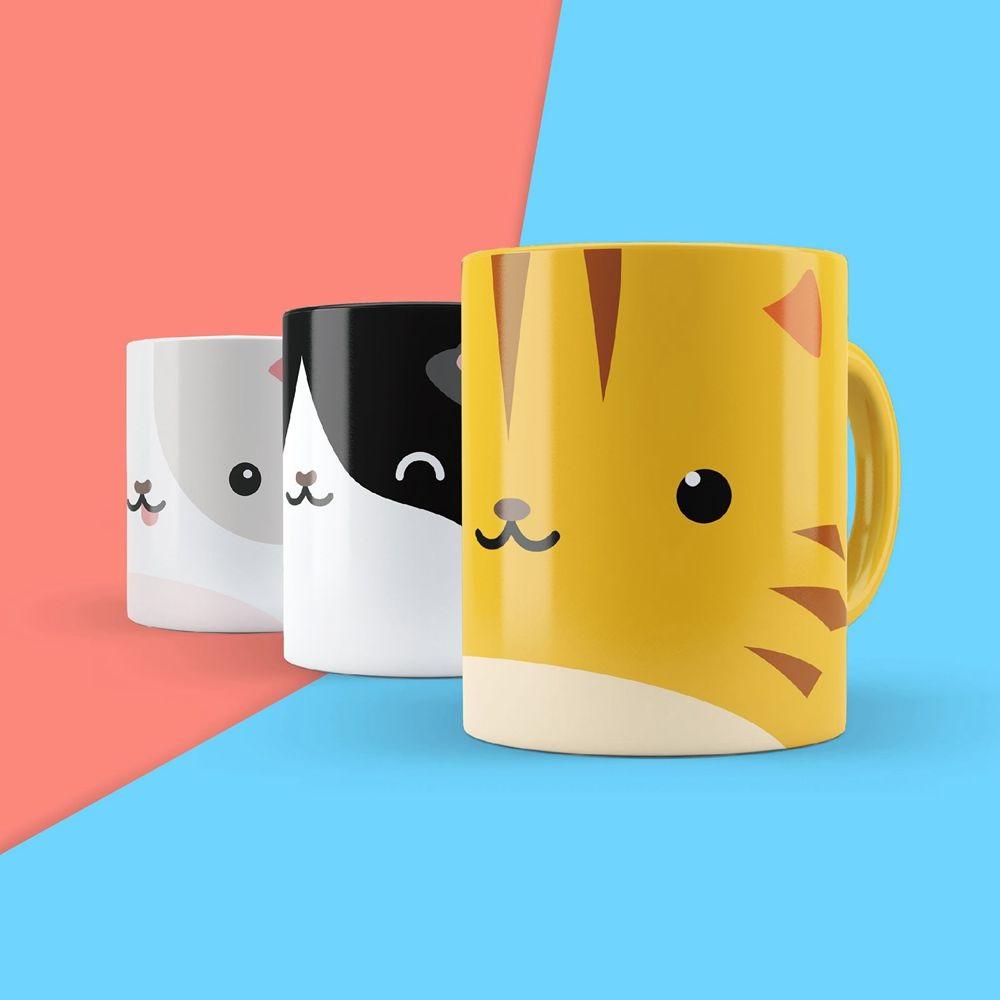 英國 Mustard | 馬克杯貼紙 - 貓貓