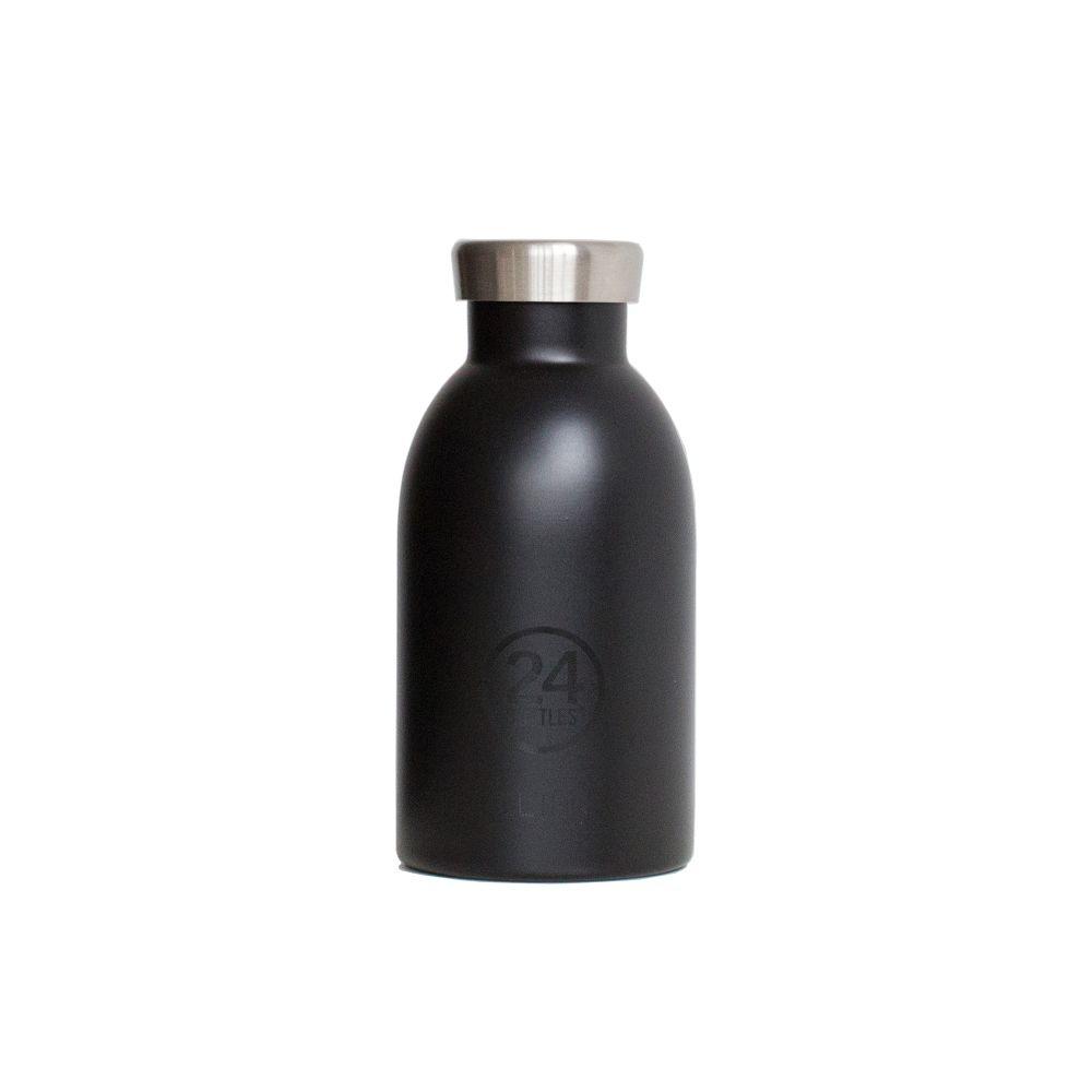 義大利 24Bottles | 不鏽鋼雙層保溫瓶 330ml - 紳士黑