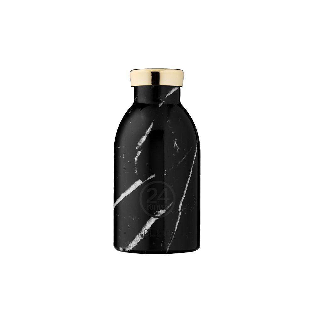 義大利 24Bottles   不鏽鋼雙層保溫瓶 330ml - 黑雲石