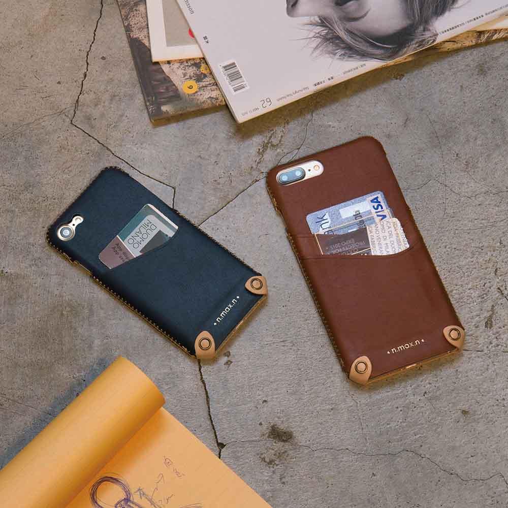 n.max.n|iPhone 7 / 4.7吋 新極簡系列皮革保護套 - 杏白