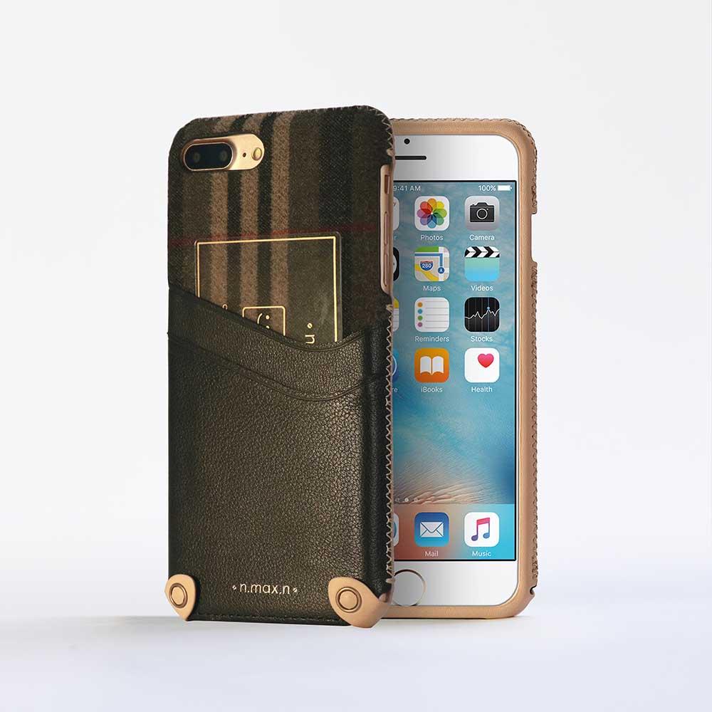 n.max.n|iPhone 7 PLUS / 5.5吋 新極簡混搭款皮革保護套 - 雅緻黑