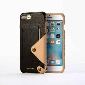 n.max.n|iPhone 7 PLUS / 5.5吋 極簡系列皮革保護套- 雅緻黑