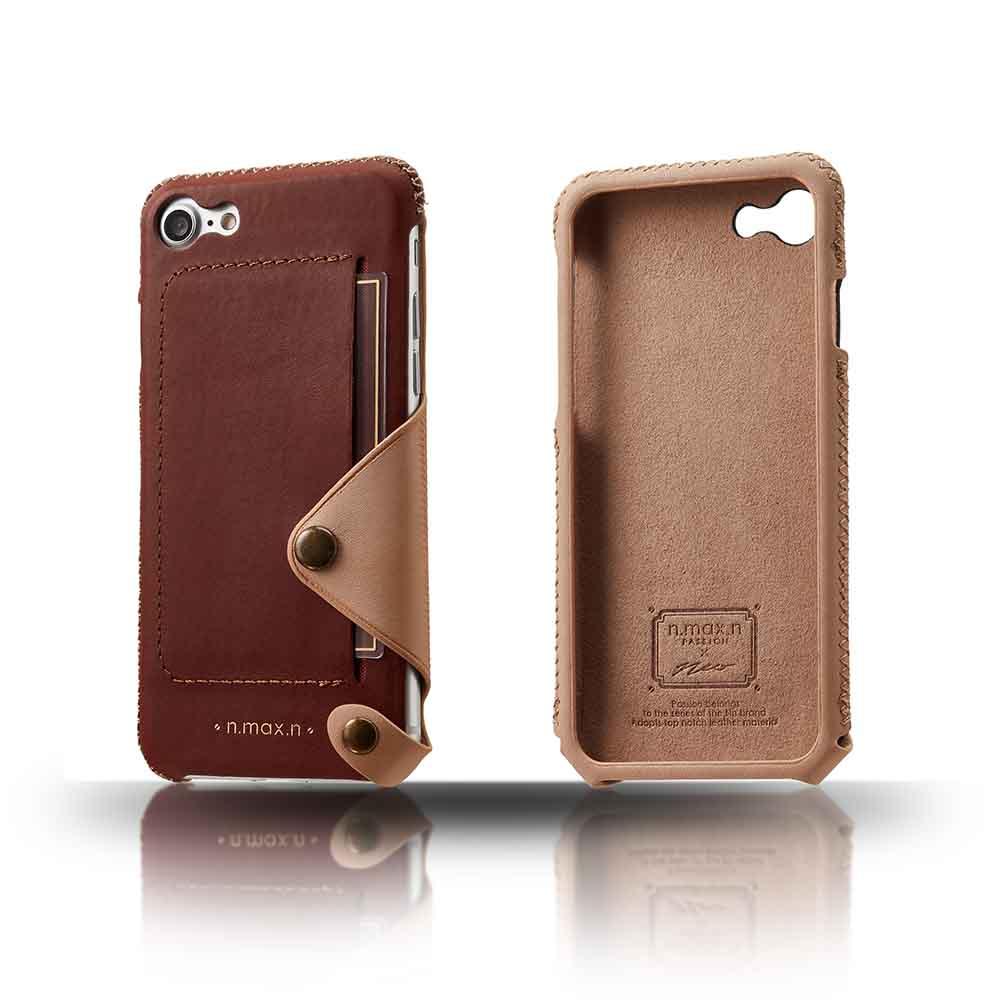 n.max.n|iPhone 7 / 4.7吋 極簡系列皮革保護套 - 馬鞍棕