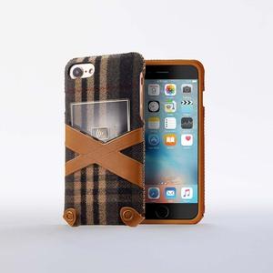 n.max.n|iPhone 7 / 4.7吋 新極簡希臘系列皮革保護套 - 卡其灰格紋