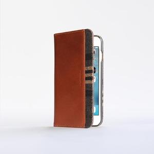 n.max.n|iPhone 7 / 4.7吋 神秘系列層疊款皮革保護套 - 馬鞍棕