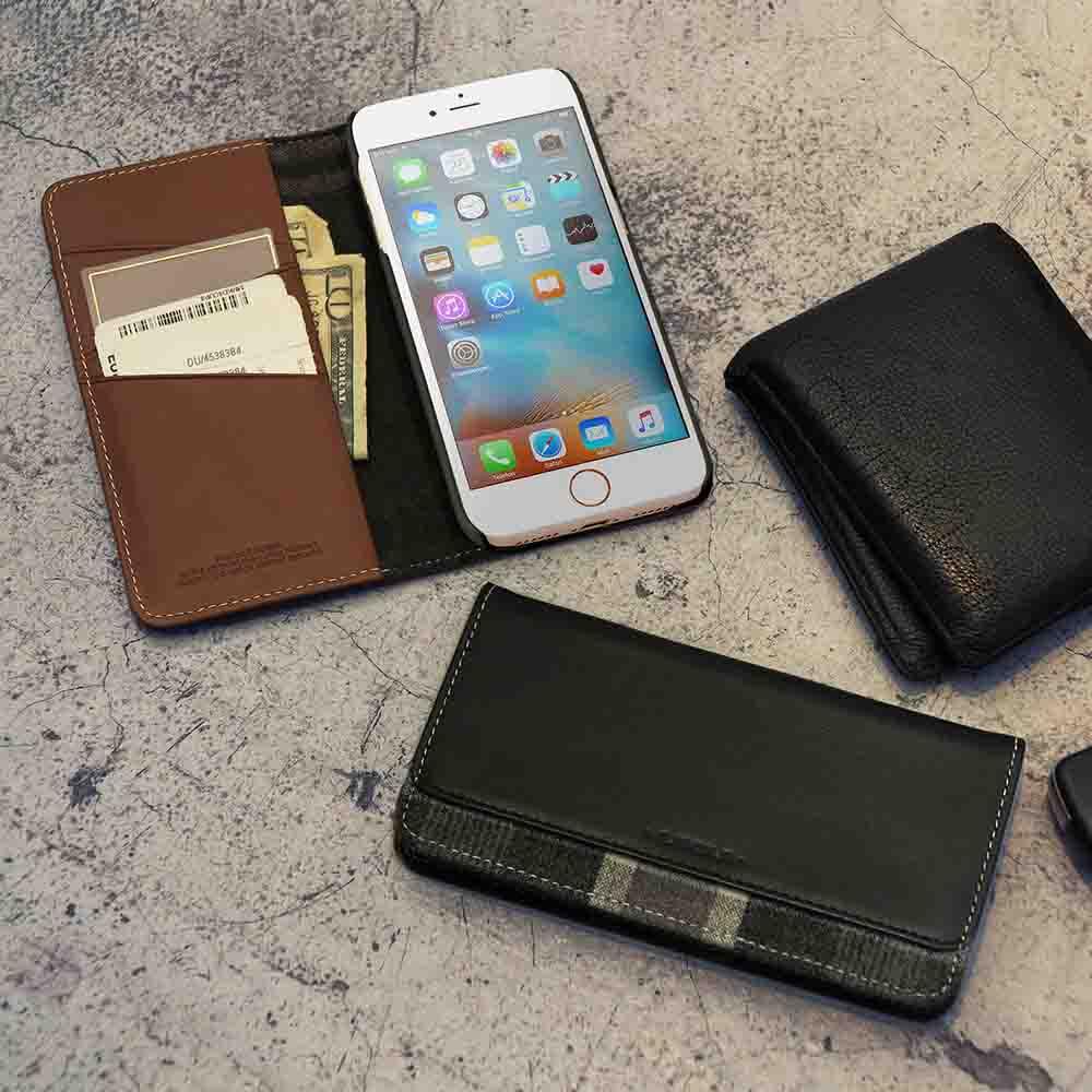 n.max.n iPhone 7 / 4.7吋 神秘系列層疊款皮革保護套 - 馬鞍棕