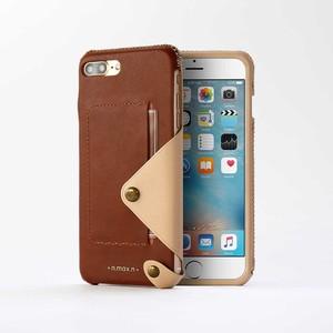 n.max.n|iPhone 7 PLUS / 5.5吋 極簡系列皮革保護套- 馬鞍棕