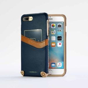 n.max.n|iPhone 7 PLUS / 5.5吋 新極簡系列皮革保護套 - 海軍藍