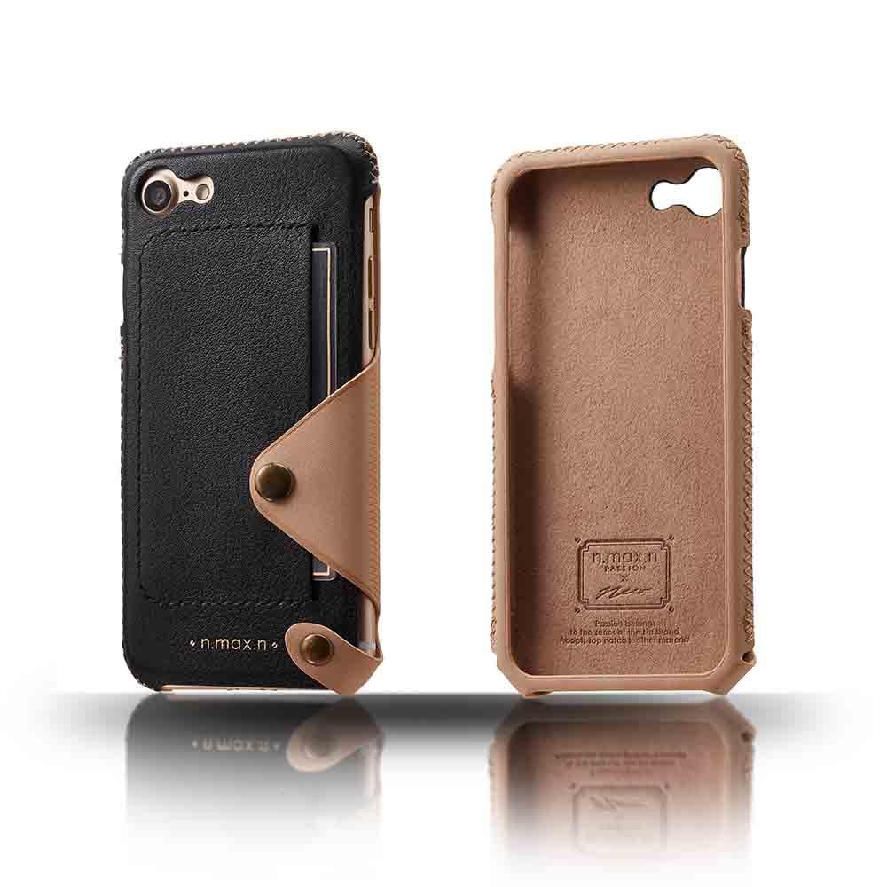 n.max.n|iPhone 7 / 4.7吋 極簡系列皮革保護套 - 雅緻黑
