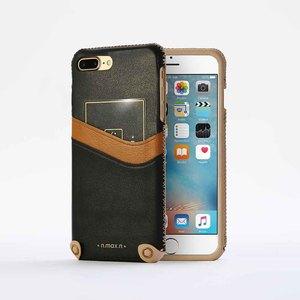 n.max.n|iPhone 7 PLUS / 5.5吋 新極簡系列皮革保護套 - 雅緻黑