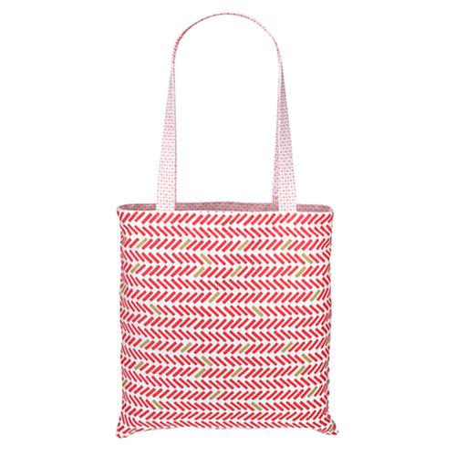 法國 La Cocotte Paris 巴黎小散步雙面托特包/購物袋Vichy rose Cocotte / Chevron rouge