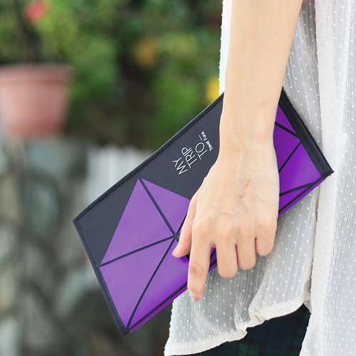 Dotfuns|travel funs 旅遊手札+書衣(紫)