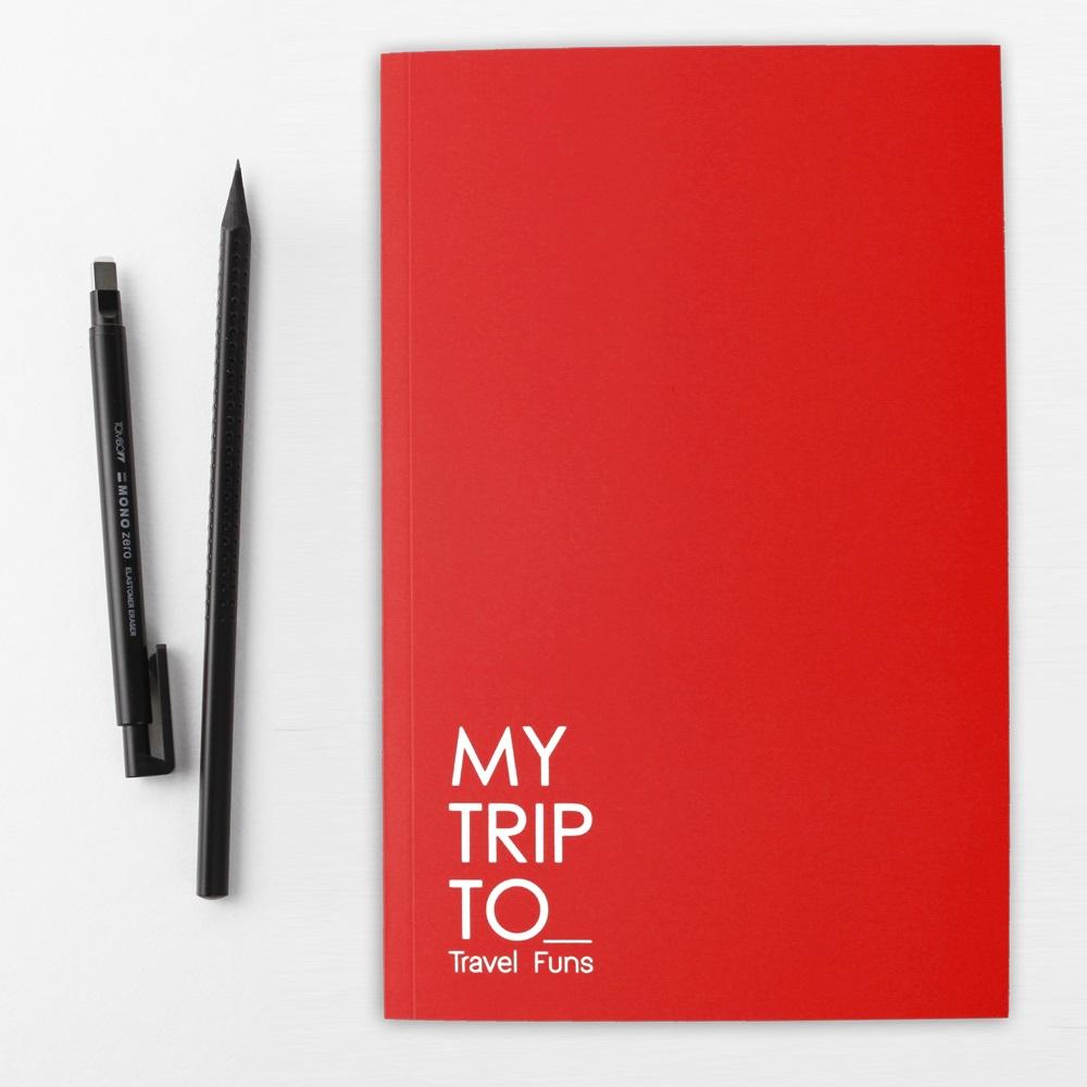 Dotfuns|travel funs 旅遊手札+書衣(紅)