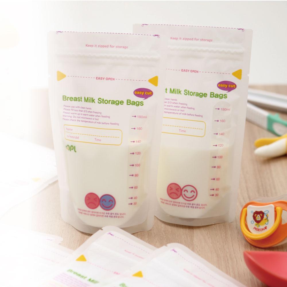 韓國MPL|雙重夾鏈感溫母乳袋(180ml X 30入)
