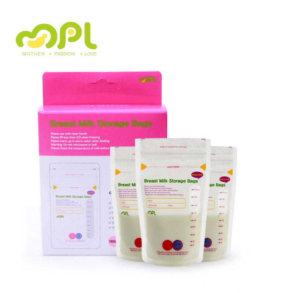 韓國MPL|雙重夾鏈感溫母乳袋(180ml X 30入 X 3盒)