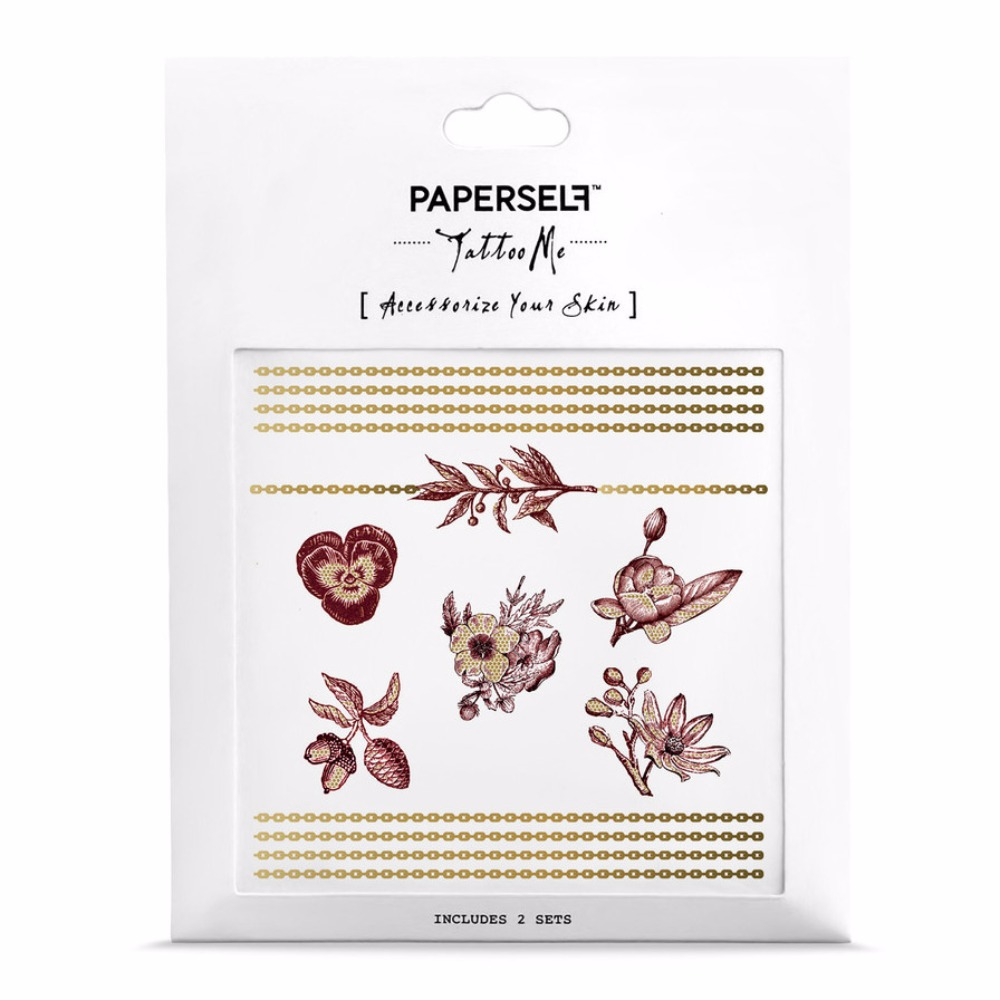 PAPERSELF|勃根地花園-手鍊 Burgundy Garden Chain Bracelet(金)