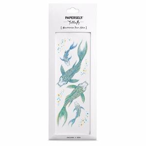 PAPERSELF|鯉魚狂想 刺青紋身貼紙 Koi(金)