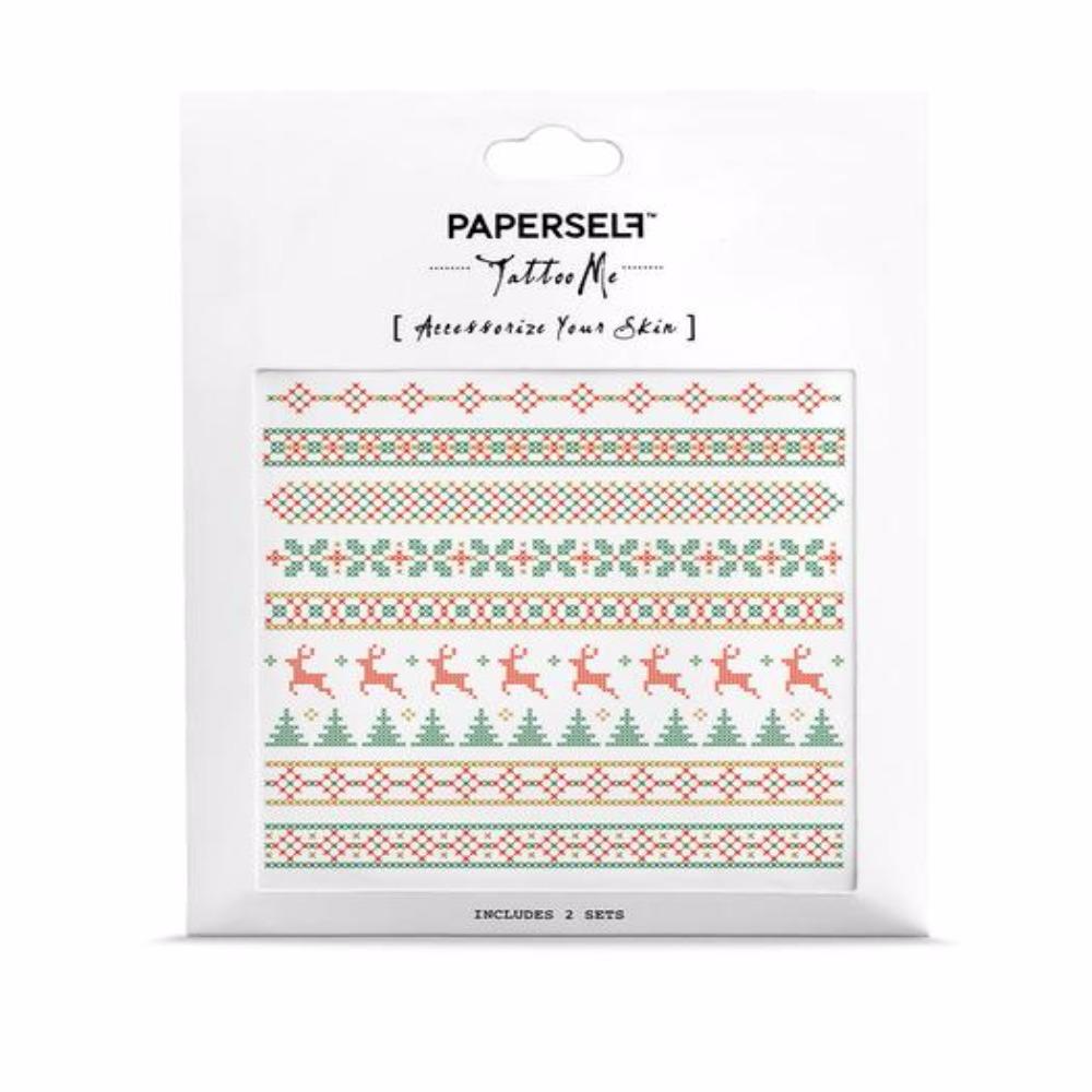 PAPERSELF 聖誕夜 刺青紋身貼紙 Prancer(金)
