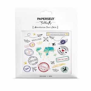 PAPERSELF|旅行夢想家 刺青紋身貼紙 Travel(金)