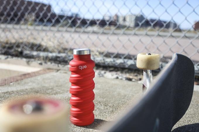que Bottle|伸縮水瓶(600ml) - 蜜桃粉