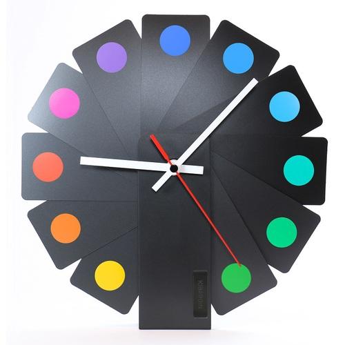 Kibardin |百變時鐘 黑色扇葉/彩色斑點