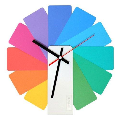 Kibardin  百變時鐘 彩色扇葉/白色主體
