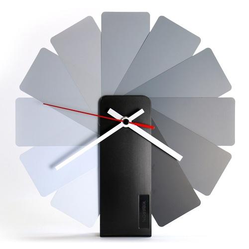 Kibardin  百變時鐘 灰色扇葉/黑色主體