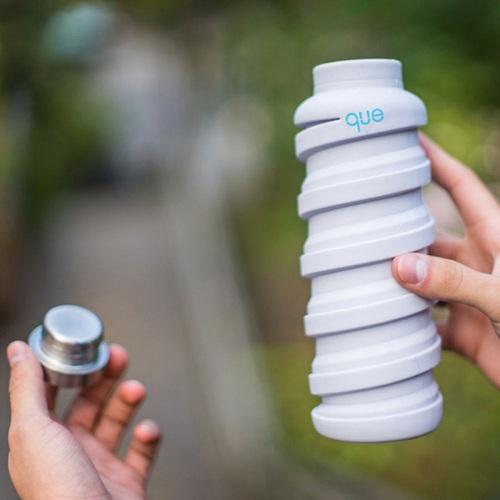 que Bottle|伸縮水瓶(355ml) - 香草白