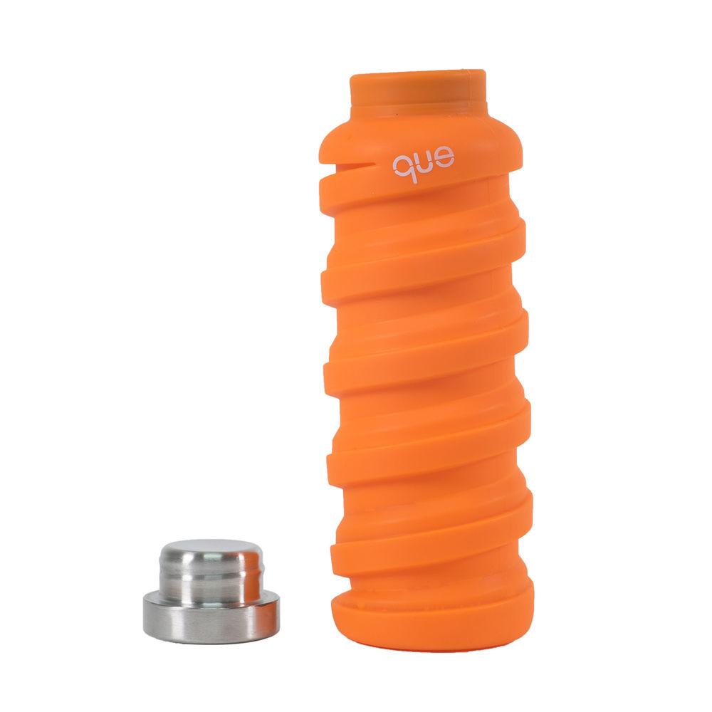 que Bottle|伸縮水瓶(600ml) - 活力橘