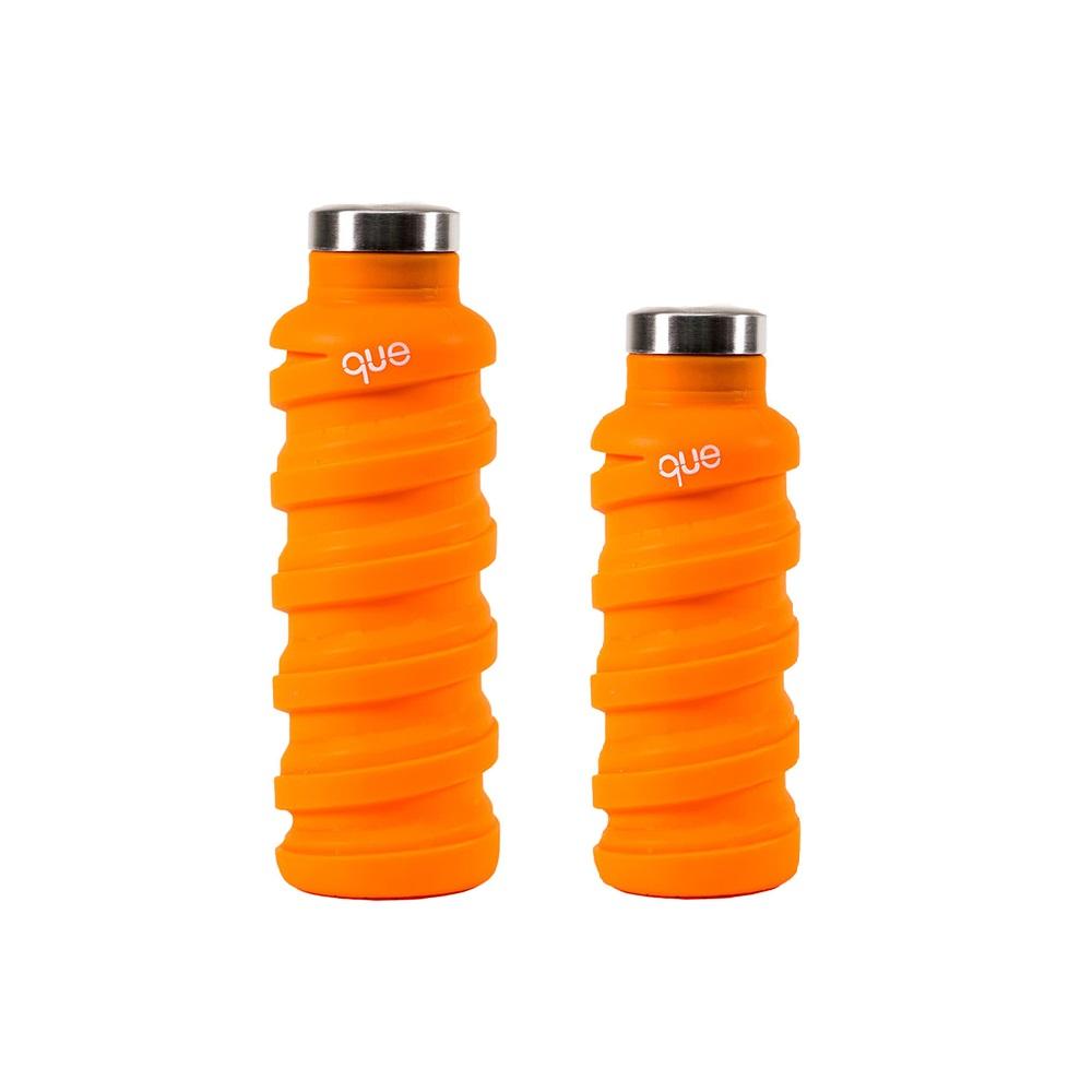 que Bottle|伸縮水瓶(600ml) - 活力橘+(355ml)活力橘