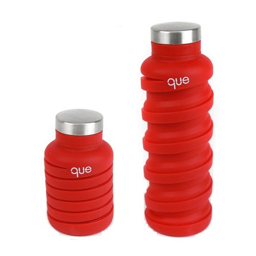 que Bottle|伸縮水瓶(600ml) - 魔力紅