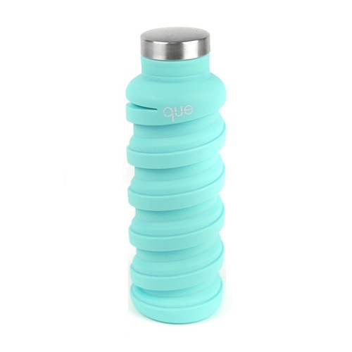que Bottle 伸縮水瓶(600ml) - 薄荷藍