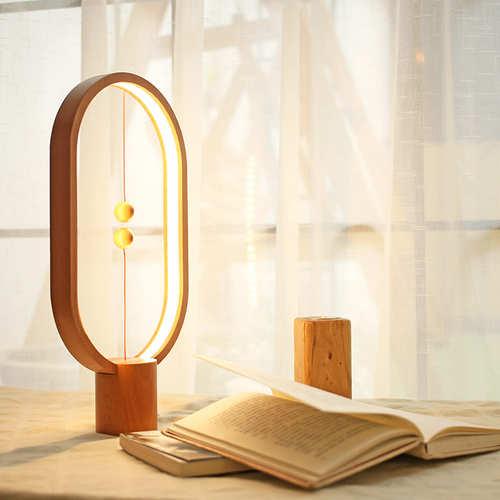 Allocacoc|Heng Balance Lamp 衡 原木燈 - 淺色圓形