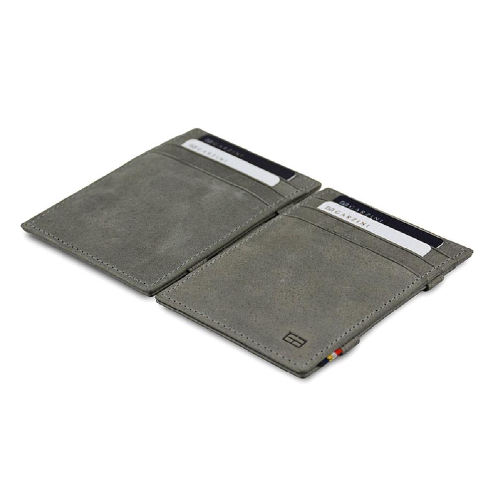 GARZINI 比利時翻轉皮夾 - 極簡款 - 淺灰色